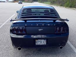 Black 2013 Mustang Gt Black 2007 Ford Steeda Mustang Gt With Silver Horse Racing Rear