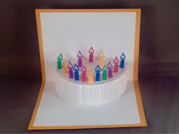 kirigami 3d birthday card happy birthday cake card kirigami