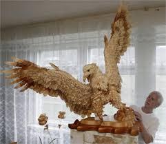amazing wood chip sculptures