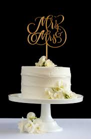 mrs and mrs cake topper mrs mrs cake topper by honey crisp