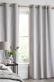 Lined Cotton Curtains Buy Cotton Waffle Blackout Lined Eyelet Curtains From The Next Uk