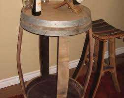 Wine Barrel Patio Table Wine Barrel Side Table Patio Table Outdoor Table End