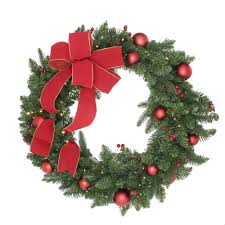 battery operated wreath national tree company 36 in battery operated mixed fir artificial