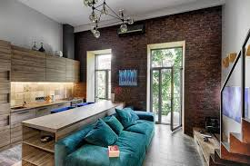 small apartment living room with large windows beautiful cobalt