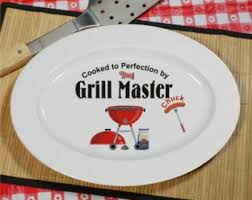 personalized ceramic platters bbq platter etsy