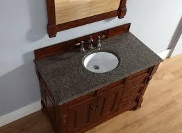 Cherry Bathroom Vanity Cabinets Abstron 48 Inch Cherry Finish Single Traditional Bathroom Vanity