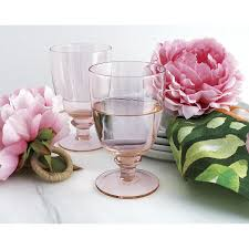 Beautiful Wine Glasses Shop Lily Pink Wine Glass Handcrafted Of Blown Glass This