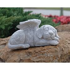 design toscano dog memorial angel pet statue amazon co uk garden