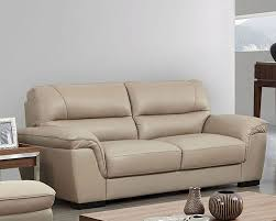 Leather Upholstery Sofa Modern Leather Sofa In Beige Decorative Stitching Accents Finest