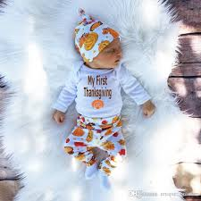 2016 baby thanksgiving baby romper headband hat