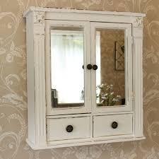 mirror wall cabinets bathroom brilliant shabby chic bathroom cabinet wall medicine mirror lovable