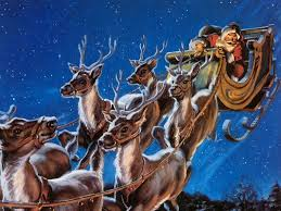 Lighted Santa Sleigh Reindeer Set by Cartoon Of Santa And His Sleigh With Reindeer U2013 Andrew Fuller
