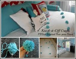 pb teen inspired pom pom duvet and pom pom tutorial knock it off kim