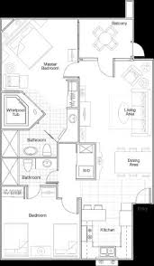 Unit Floor Plans Floor Plan Of 2 Bed Room Unit At Fountain Ii Picture Of Sheraton