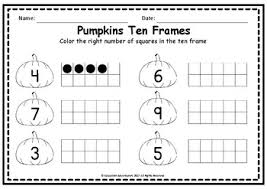 pumpkin trace write and count worksheet set numbers 1 20 tpt