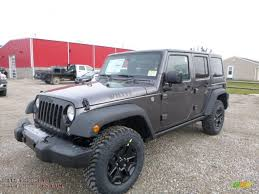 2016 jeep wrangler unlimited willys wheeler 4x4 in granite crystal