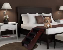 Dog Home Decor Excellent Stairs For Helpless Dogs Dog Stairs For Bed