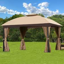 Mainstays Gazebo Replacement Parts by Cloud Mountain Garden Gazebo Polyester Fabric Patio Backyard