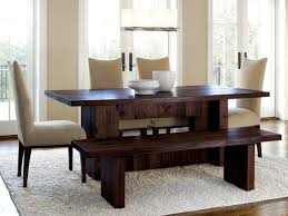 totally unique design of dining table with bench dining room full size of dining room stunning varnished wood dining table with bench and white four