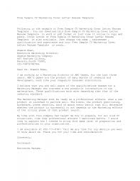 examples of marketing cover letters gallery letter samples format