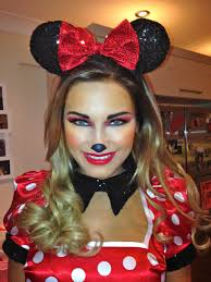 Minnie Mouse Halloween Costumes Adults Makeup Ashley Sam Faiers Disney Birthday Party Minnie Mouse