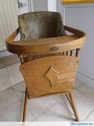 chaise pour bébé ancienne chaise haute pour bébé tissus ciré abîmé par endro a