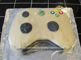 cool homemade xbox controller birthday cake