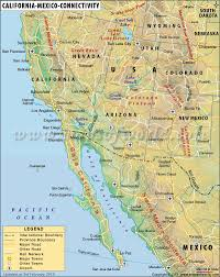 california map in usa map usa mexico major tourist attractions maps