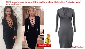 women v neck cross open front long sleeve bandage bodycon dress