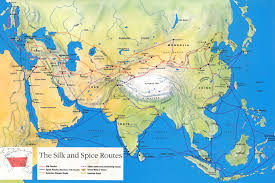 Map Of Nepal And Tibet by Silk Road Maps Useful Map Of The Ancient Silk Road Routes