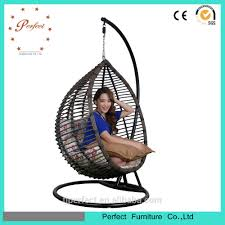 Indoor Hanging Swing Chair Egg Shaped Indoor Bamboo Swing Chair Cane Swing Hammock Hanging Pod Chair