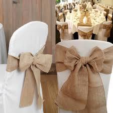 burlap chair sashes rustic burlap hessian table runner chair sash jute wedding