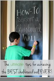 how to prep u0027season u0027 a chalkboard wall before using it it u0027s the