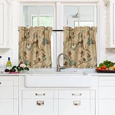 Window Curtains For Kitchen by Curtain For Kitchen Windows Amazon Com