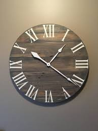 best 25 wood clocks ideas on b q wall clock