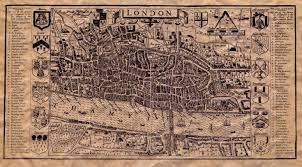 Map Of London England by Old Map Of London