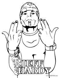 jeff hardy coloring pages wrestler jeff hardy coloring pages