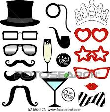 mustache party clipart of mustache party props k21564173 search clip