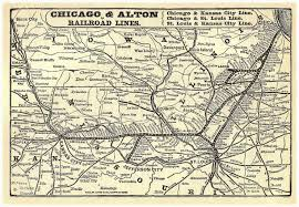Chicago Railroad Map by Industrial History Chicago And Alton Railroad
