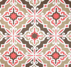 home decor fabrics by the yard art deco fabric coral pink u0026 brown by the yard designer cotton