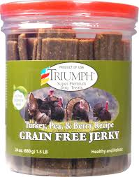 triumph grain free turkey pea u0026 berry recipe jerky dog treats 24