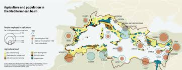 Map Mediterranean Agriculture And Population In The Mediterranean Basin Grid Arendal