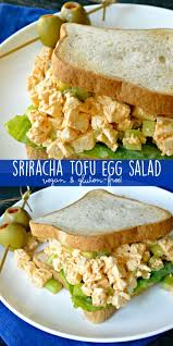 vegan sriracha mayo sriracha tofu egg salad vegan veggies save the day