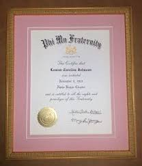 sorority picture frame framed sorority certificate columbia frame shop