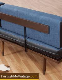 Mid Century Daybed Restored Blue And Black Mid Century Daybed Sofa