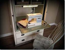 sewing armoire how to convert an armoire into a sewing cabinet convert tv armoire