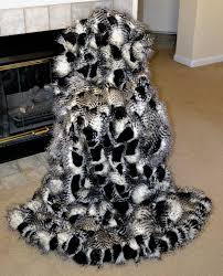 Faux Fur Blankets And Throws Black And White Ostridge Faux Fur Fake Fur Blanket Throw Faux Fur