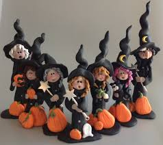 halloween polymer clay witches by roberta originals clay