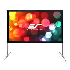 Backyard Projector Screen by Elite Screens Oms100h2 Dual Yard Master 2 100