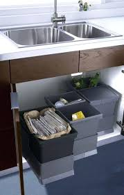 Under Cabinet Pull Out Trash Can Trash Can Under Kitchen Sink Imperial Trash Or Recycling Cabinet